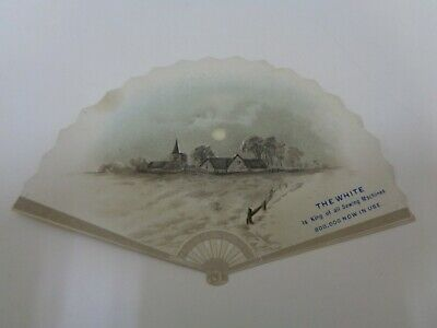 The White Sewing Machine Victorian Advertising Trade Card Fan