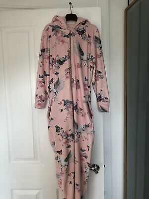 Girls Pink Ted Baker All In One Nightwear Age 11-12 Years