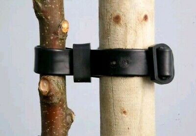 Yuzet Rubber Buckle Tree Ties Straps Plant Stake Support garden adjustable whip