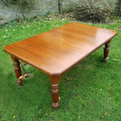 Victorian Walnut Extending Dining Kitchen Table C1880