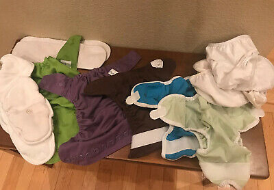 Grovia Hybrid One Size & Thirties XS Cloth Diaper Lot & Organic Cotton Inserts
