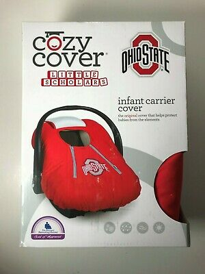 (1) NIB Cozy Cover Lined Ohio State Infant Car Seat Carrier Cover Red