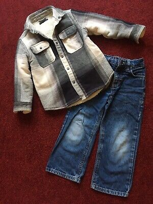 Boys Fleece Lined Jacket And Jeans From Next Age 5 Yrs. Great Condition.