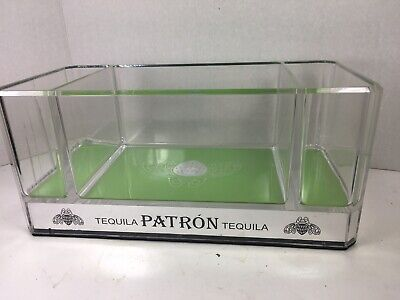 Unique Patron Tequila Acrylic Lucite  Bar Caddy Napkin Accessory Holder Rare