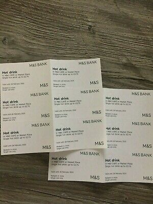 Marks & Spencer Coffee Vouchers x 12: Valid to 28 February 2020