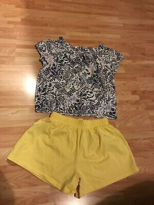 Shorts T-shirt set. Age 6 years Next Mothercare yellow blue flowers