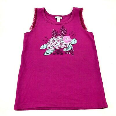 Naartjie Kids Turtle Applique Tank Top Tulle Ruffled Sleeves Girls XXXL 9 Years