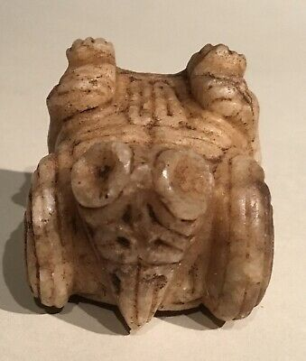 Taino Fully Engraved Marble Bird Man Cemi (Effigy) PreColumbian
