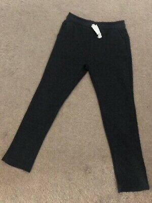 Zara Soft Stretch Cotton Charcoal Grey Tracksuit Bottoms Trousers Pants Age 7