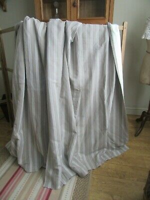 Stunning antique,vintage ticking curtains,loads fabric