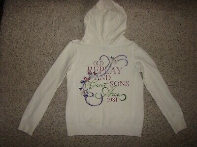 Designer Repley & Sons Girls Hoodie Jumper Age 9-10 Replay and Sons Winter