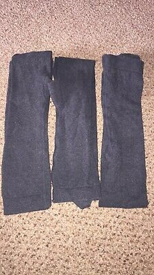 marks and spencer 3 pairs girls grey tights aged 6-7 years