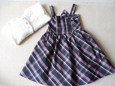Girls, 2 Pieces Party/Formal Outfit, M&S Dress & Jacadi Cardigan, Age 8 Years