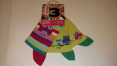 New United Oddsocks Owls - 3 Odd Ankle Socks 3 Combos Size UK 12 - 5.5