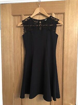 Girls River Island  Black Dress Age 11-12
