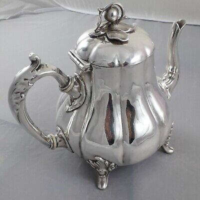 Rare Stunning Antique 19Th Century Victorian Silver Plated Epns Melon Tea Pot
