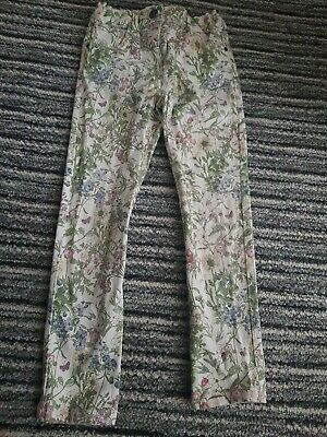💝Girls Floral/flower Garden Jeans💝trousers💝5-6💝f&f💝ideal 4 holiday💝