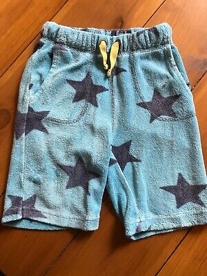 Mini Boden Towelling Blue  Star Shorts Age 2 Years