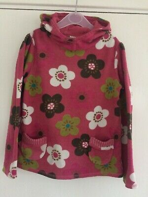 Girls Long Sleeve Hooded Thick Floral Jumper From Next Age 7 Years