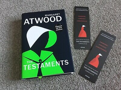 Signed The Testaments HB Margaret Atwood 2 Bkmarks Booker Prize