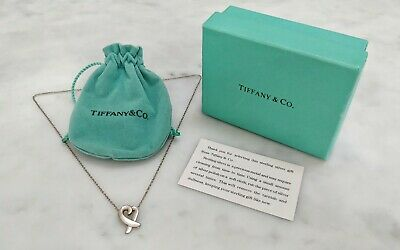 Tiffany & Co Sterling Silver Paloma Picasso Loving Heart Necklace