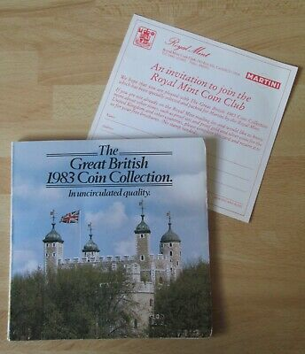 The Great British 1983 Coin Collection uncirculated Royal Mint display pack set