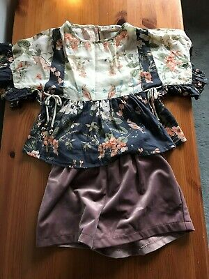 Next Girls Top And Shorts Outfit (Size 2-3)