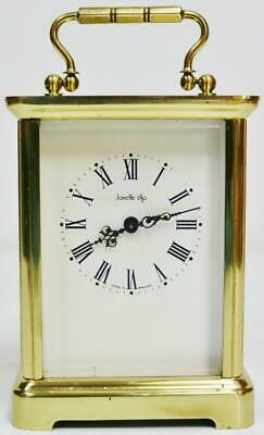 Vintage Swiss 8 Day Classic Timepiece Brass Carriage Clock Platform Escapement