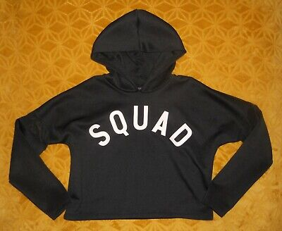 Girl's Young Direction Black Cropped SQUAD Hoody Age 11-12 Years Yrs L@@K!!!