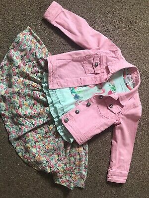 Girls Skirt, Top And Jacket - Age 2-3 Years. Mixed Label. Read Description.