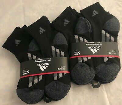 Adidas Climalite Youth Cushion Stain Resistant Low Cut Socks 6 Pair Multicolored