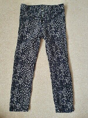 Girls leopard print trousers from Next - Size 7 years