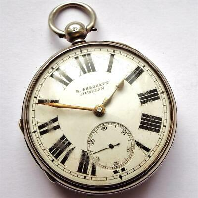 Gents 1873 Silver Fusee Chain Drive Pocket Watch Named - In Working Order