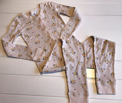 Mini Boden Girls Age 8 Years Pyjama All In One Floral Print Jersey  Cotton Cosy