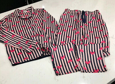 Girls River Island Striped Satin Pyjamas, Age 9-10 Years