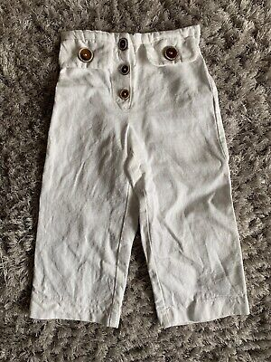 Zara White Trousers Age 5