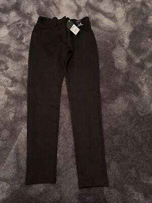 2 Pairs Of Next Girls Black Skinny School Trousers Age 14yrs
