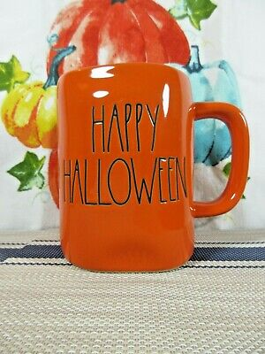 Rae Dunn 'Happy Halloween' Mug Halloween Orange W/ Black Lettering 🎃