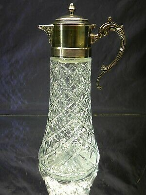 Godinger Italian Crystal Silverplated Claret Carafe with Chiller Ice Insert