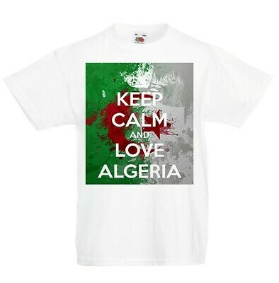 Keep Calm and Love Algeria New T-Shirt Country Flag Top City Map