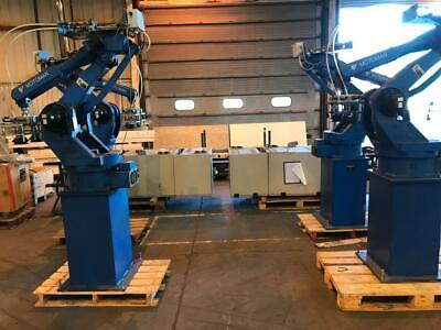 2 x Motoman 6 Axis Industrial Robot, Control Cabinet and Teach Pendant