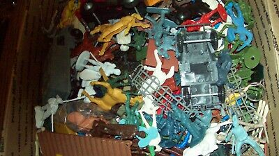 Grab Bag ! Seven pounds of assorted plastic figures, over four hundred pieces!