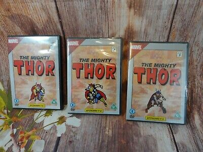 Marvel The Mighty Thor [DVD] x3 lot episodes 1-9 job lot/bundle special edition