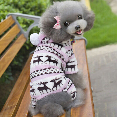 Clothes Dog Jumper Sweater Pet Warm Fleece Chihuahua Knitwear Puppy Coat Winter