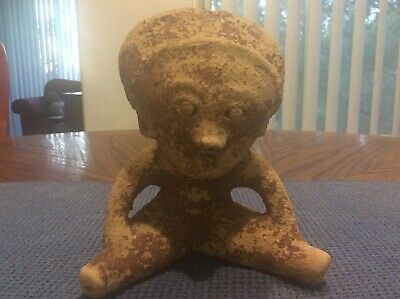 ANCIENT PRE COLUMBIAN EFFIGY clay artifact
