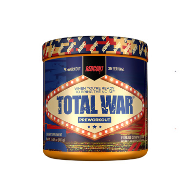 Redcon 1 Total War - Pre Workout 30 Serves Fire Ball Olympia Edition  High Stim