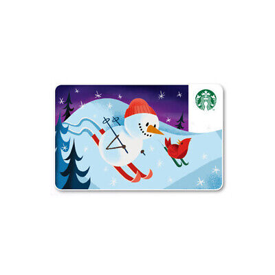 Starbucks Card coffee Korea Starbucks 2019 Snowman Card gift card