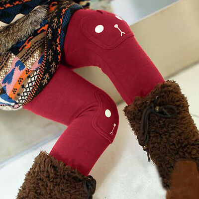 Kids Girls Cotton Thick Warm Leggings Skinny Pants Winter Thermal Long Trousers