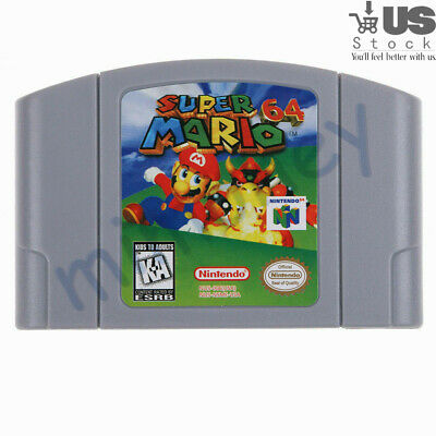 For Nintendo N64 Game Super Mario 64 Video Game Cartridge Console Card US VER