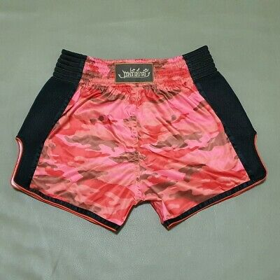 Fairtex BS1705 Shorts Satin Boxing Muay Thai Orange Green Olive Slim Cut Trunks